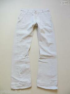 Levi-039-s-engineered-Jeans-Hose-W-32-L-32-weiss-TOP-Denim-034-Verdreht-034-RARITAT