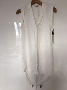 Bb Dress Sleeveless S Small Tunic Off Nwt White Shirt New Shirtdress Dakota Tr6Tqn0U