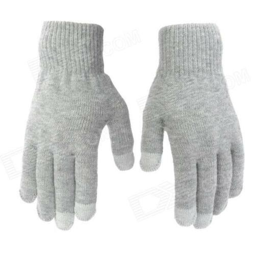 Grey Touch Screen Magic Winter Gloves Mens Ladies For Smartphone Tablet