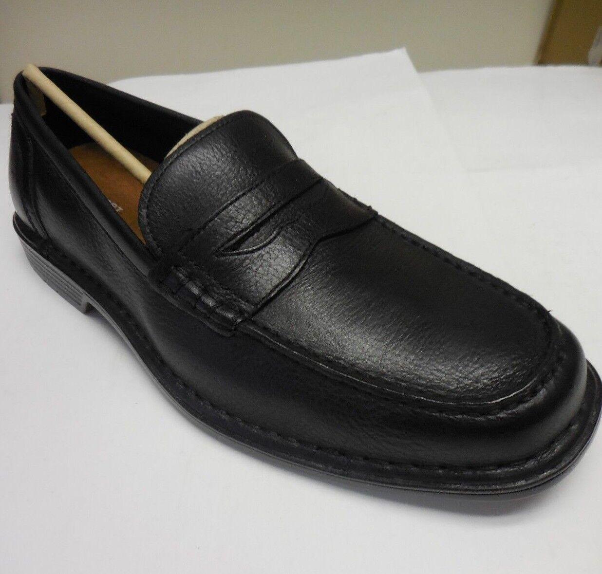Rockport Men's Ws Penny Black Leather Slip-On Dress shoes Size 11.5 M