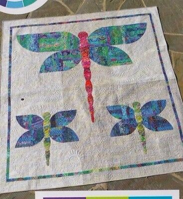 foundation paper pieced mini quilt PATTERN Dragonfly Dance
