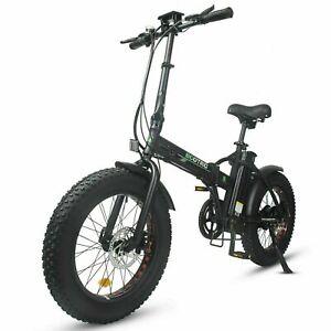 "Folding 20"" 48V 12.5AH 500W Electric FatTire City E Bike Beach Bicycle Ebike LCD"