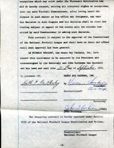 Vince-Lombardi-Signed-1961-NFL-Cochran-Contract-Autographed-Packers-PSA-DNA