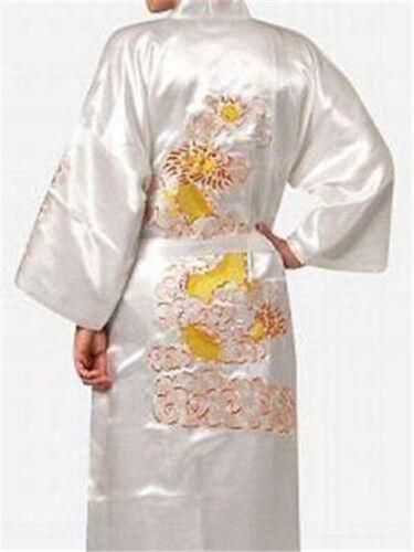 New Men/'s Silk//Satin Japanese Chinese Kimono Dressing Gown Bath Robe Nightwear