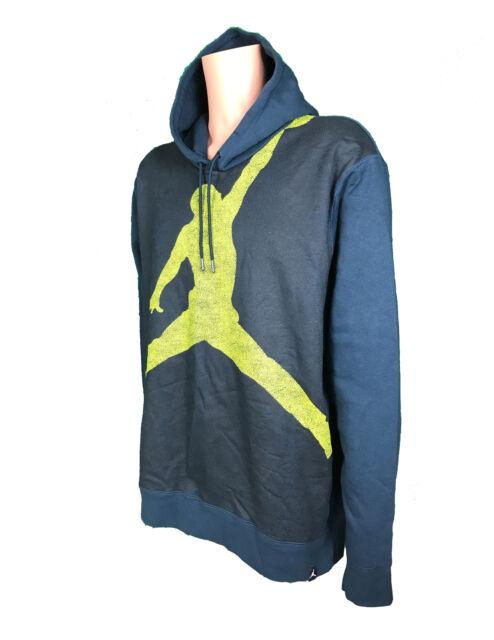 e61e0593919947 NEW Nike Warm Up Jordan Jumpman Men s XL Blue Hoodie Sweatshirt 834369 454