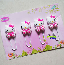 4 Pcs Hello Kitty Note Office Paper Clip School Supplies Study Article