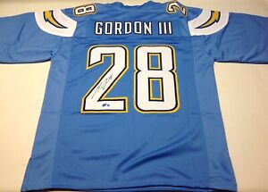 reputable site 7eec4 34741 Details about MELVIN GORDON SIGNED CUSTOM POWDER BLUE JERSEY GORDON COA!!