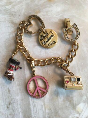 Wow!! Vintage Juicy Couture charm bracelet rare Po