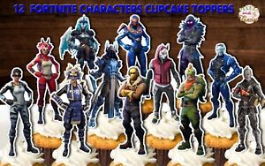 Cake Toppers Glitter Fortnite Cupcake Toppers 6 Fortnite Moves Cookware, Dining & Bar Cake Toppers