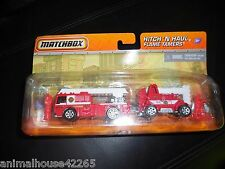Matchbox Hitch N Haul Flame Tamers (WildFire Unit Mobile Command Center) Figures