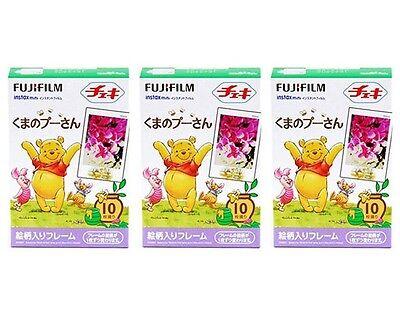 3 Packs Winnie The Pooh FujiFilm Fuji Instax Mini 30 Films Polaroid 7S 8 25 50S