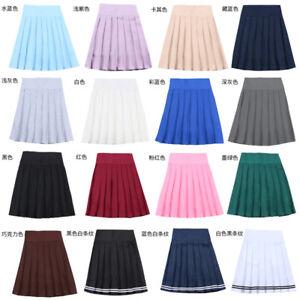 d4209bd65d Harajuku JK Summer Skirt Women High Waist Cosplay Solid Girl Mini ...