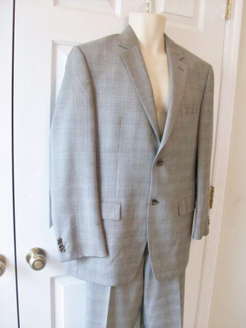 Michael Kors  Men's Gray Plaid Suit~Size 40 R~100% Wool~Lightweight