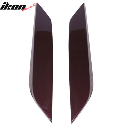 Fits 03-08 350Z Headlight Eyelids Eyebrow Cover Painted #L40 New Maroon Metallic