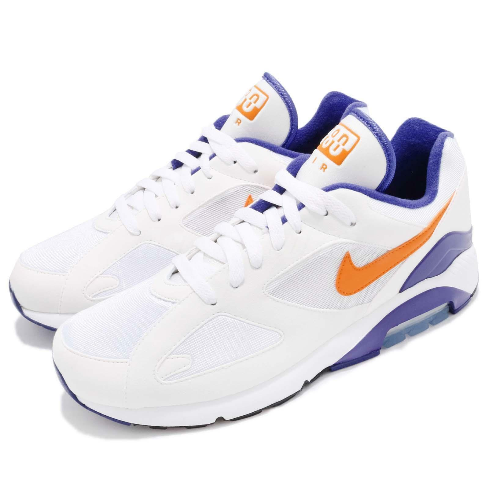 6108549313 Nike Men Air Max 180 OG Bright Ceramic White Purple Men Running shoes  615287-101