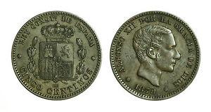 pcc1585-53-SPAGNA-SPAIN-Alfonso-XIII-5-Centimos-1879-Barcelona-OM