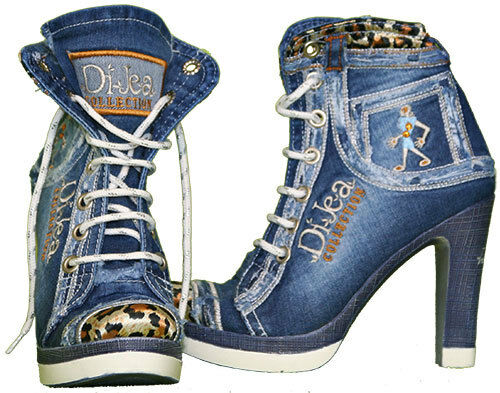 Jeans Stiefel / Designer Stiefel / original Dijea Collection / Stella Tiger /
