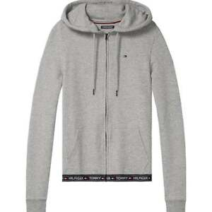 Tommy-Hilfiger-Mujeres-HWK-con-capucha-gris-oscuro-Loungewear