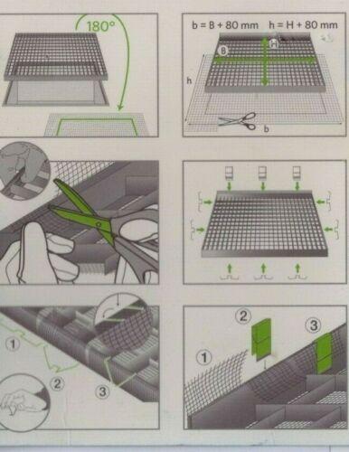 16 Befestigungs-Klammer für Lichtschacht-Abdeckung mit Alu-Edelstahl-Gewebe