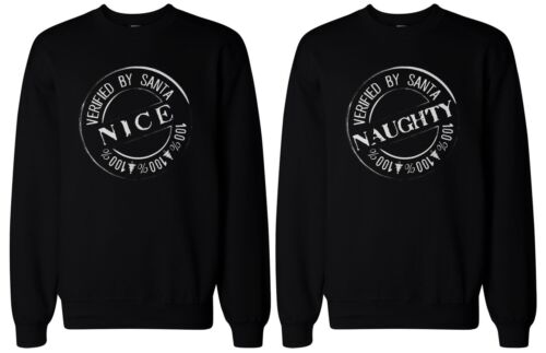 Christmas Gift for Best Friends Naughty and Nice BFF Matching Sweatshirts