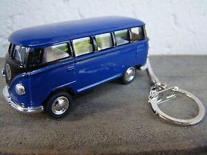 Porte-cle-Volkswagen-bus-combi-T1-bleu-et-noir-neuf-idee-cadeau