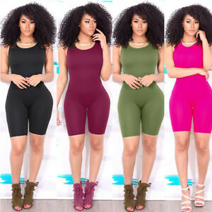 Sexy Women Casual Sleeveless Bodycon Romper Jumpsuit Club Bodysuit