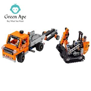 Details about LEGO Technic Roadwork Crew 42060 Construction truck 365  pieces 2 vehicles in 1