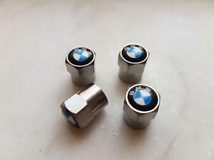 4 TAPPI TAPPINI COPRIVALVOLA BMW PNEUMATICI CERCHI IN LEGA CON LOGO BMW