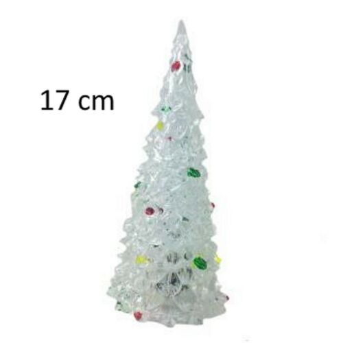 GRAND SAPIN DE NOEL LUMINEUX 17 X 7 CM DECORATION DE TABLE