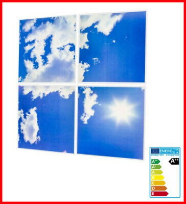 Luminaire dalle leds plein ciel neuf pour plafond ou décor mural