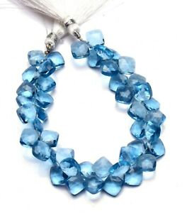 AAA+++ Natural Multi Aquamarine Faceted Beads 925 Sterling Silver Necklace Aqua Beads Necklace Aqua Beaded Necklace March Birthstone