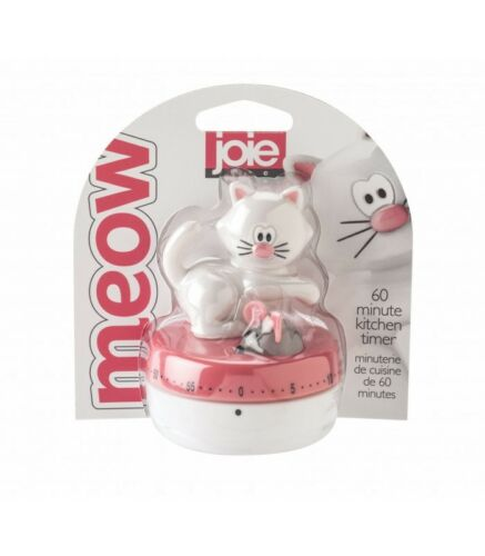JOIE White Cat & Mouse 60 Minute Timer - Kitchen Gadget | eBay