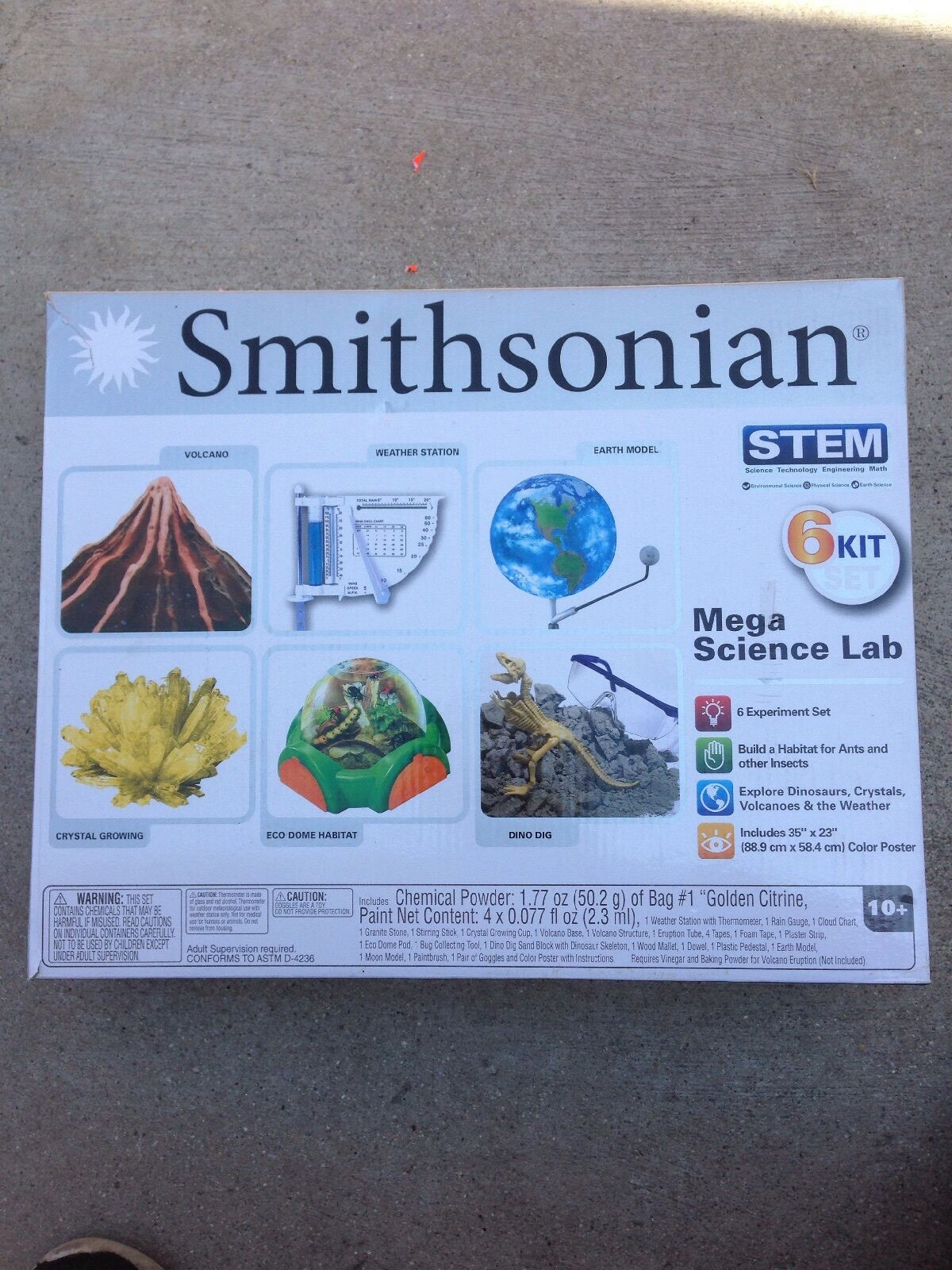 Smithsonian CHEMISTRY SET EDUCATIONAL SCIENCE KIT EXPERIMENT LAB