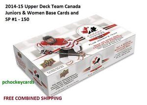 2014-15-14-15-Upper-Deck-UD-Team-Canada-Juniors-Women-1-100-SP-101-150
