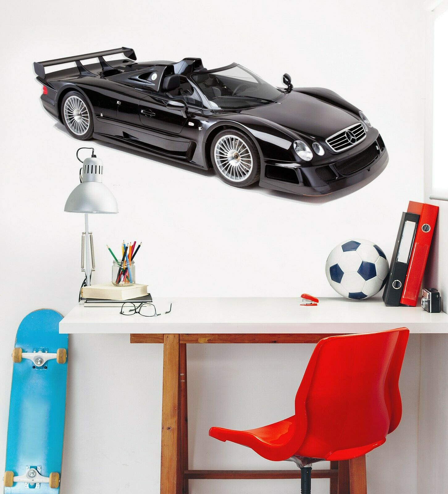 3D Mercedes-Benz C188 Auto Wallpaper Wandbild Poster Transport Wandaufkleber Wen