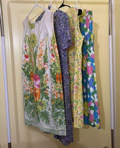Vintage Dress Lot of 4 Unlabeled Floral Print