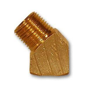 1-8-034-STREET-ELBOW-45-Degree-Brass-Fitting-Adapter-Fuel-Oil-GW-124PSE-2