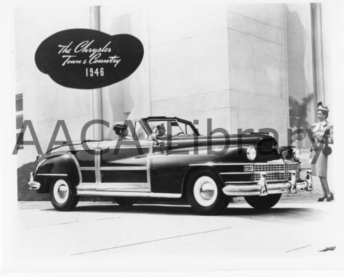Ref. # 33282 Factory Photo 1946 Chrysler Town /& Country Eight Convertible