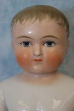 "15.5"" Antique German Blonde Frozen Charlie China Bathing Doll c1910 Large Size"