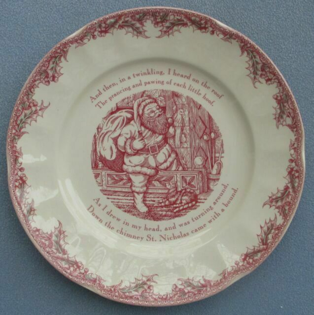 Johnson Brothers Twas the Night Before Christmas Round Platter Serving Plate NIB