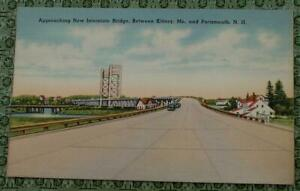 Details about Vintage Litho Postcard, New Interstate Bridge, Kittery Maine,  Portsmouth N H