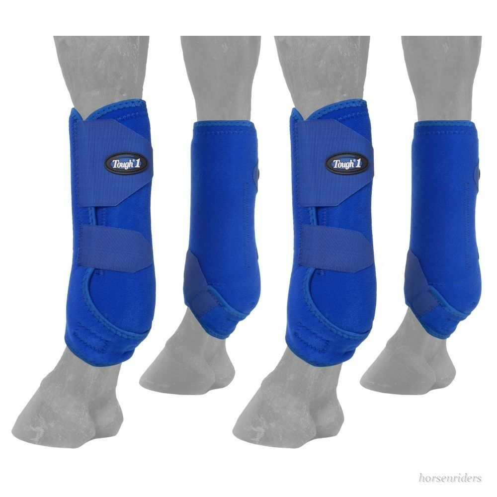 Horse Predective Sport Boots - Extreme Vented - Fronts & Rears - blueE - Large