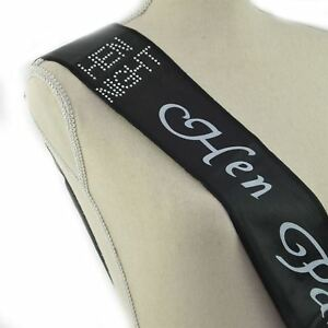 BLACK & SILVER HEN PARTY SASH Diamante Girls Night Out Fancy Dress Accessories