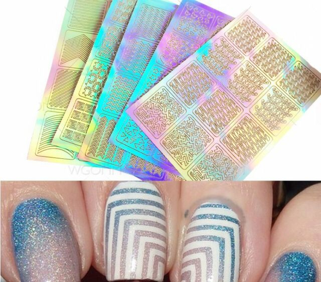 3sheet Nail Art Transfer Stickers Decal 3d Design Manicure Tips