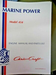 Chris Craft Marine Power Engine Manual And Parts List 454 CC Pt No  169908805-22 | eBayeBay