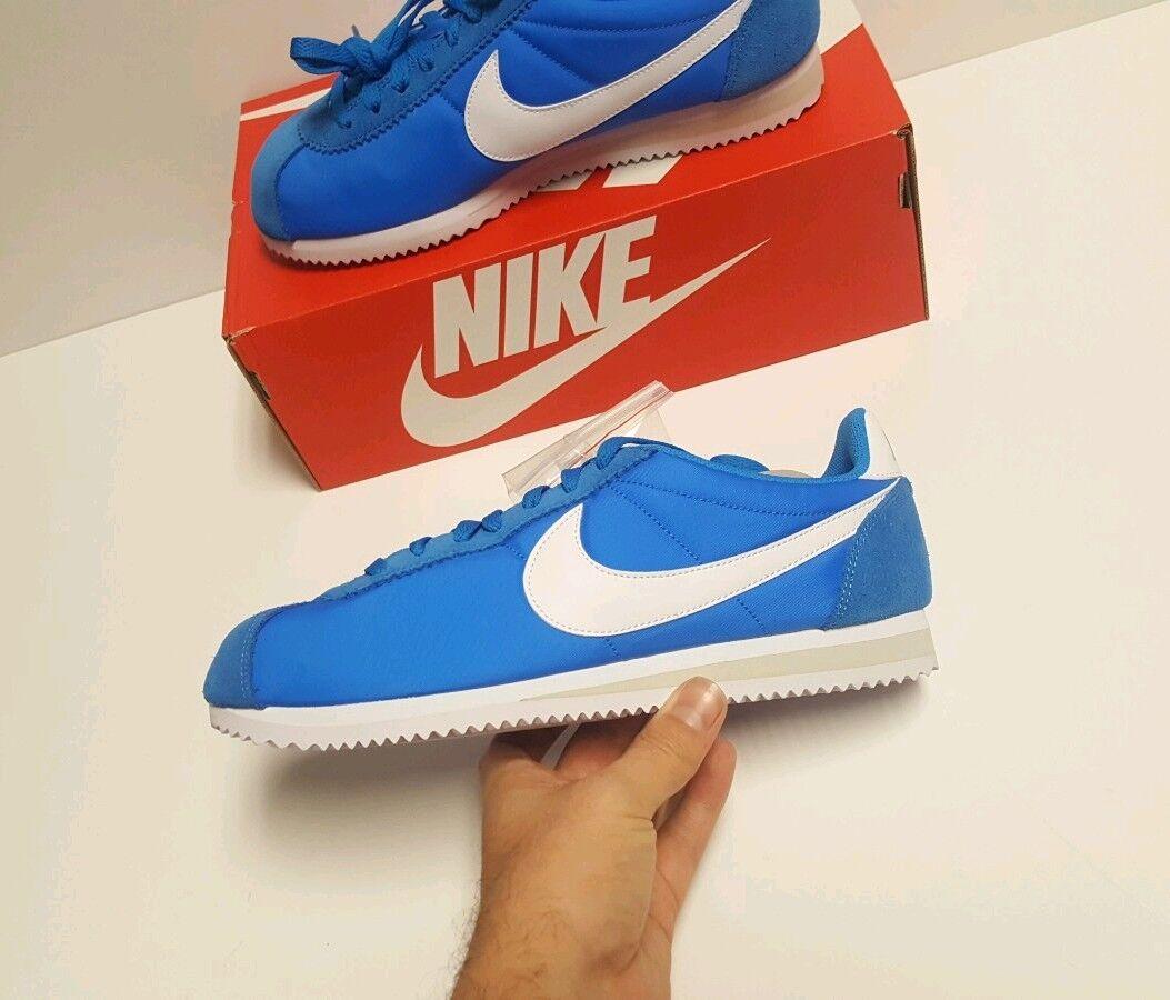 Nike Nike Nike Classic Cortez Nylon shoes Photo bluee White Pale Grey 807472 400 Size 9 6a1cf7