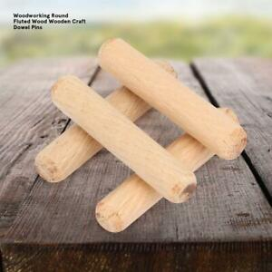 M6,8,10 Hardwood Wooden Dowel Wood Pin Craft Stick Chamfered Flutted Multigroove