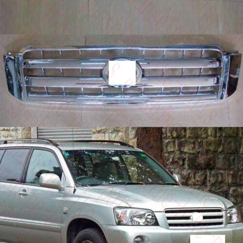 1x For Toyota HIGHLANDER KLUGER 2004-2006 Car ABS Front Bumper Upper Grid Grille