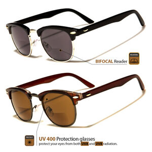 761f814d3b3 Image is loading Mens-Womens-Fashion-Vintage-Unisex-Sun-Readers-Bifocal-
