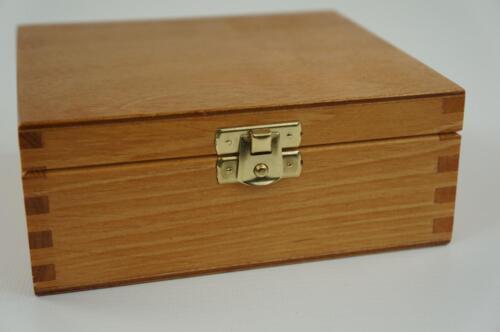 Wooden Alder Jewellery Box Trinket Storage Box Memory Box Keepsake Chest P18o
